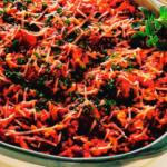 Запеканка из спагетти с мясными фрикадельками