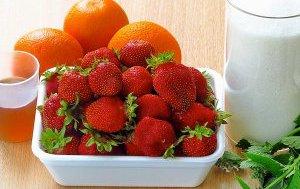 Варенье из апельсинов с клубникой