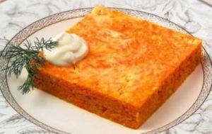 Морковная запеканка, рецепт