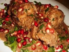 Рецепт курицы в гранатовом соусе