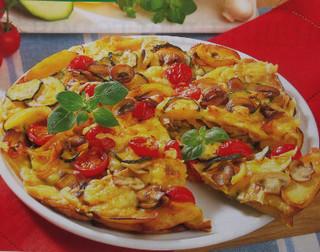 Картофельная пицца с грибами