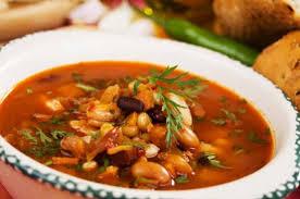 Суп из фасоли с курицей