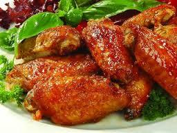 Куриные крылышки, жареные на мангале