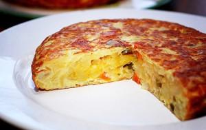 Испанская тортилья с картофелем и луком