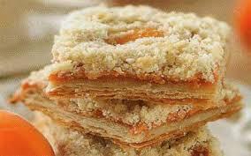 Пирог с абрикосами и мюсли