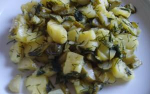 Салат из картофеля с огурцом