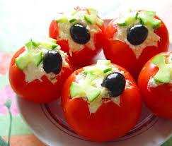 Фаршированные помидоры – рецепт с грецкими орехами и зеленью