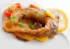 Рыба с шалфеем и чесноком