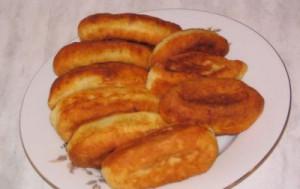 Жареные пирожки из творожного теста