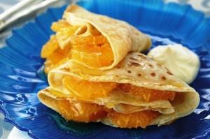 Рецепт блинчиков с начинкой из мандаринов
