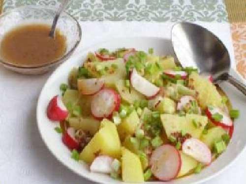 Салат с картошкой и редиской