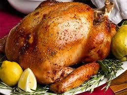 Курица запеченная в мандаринах