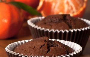 Шоколадные кексы с мандаринами