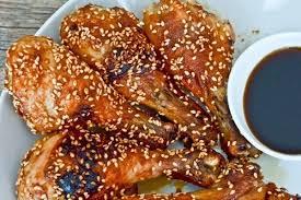 Курица с имбирем и кунжутом