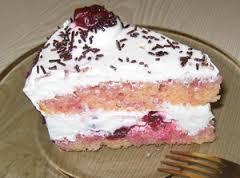 Вишневый пирог с киселем