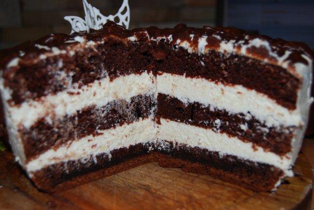 Торт шоколад на кипятке рецепт