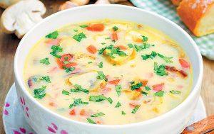 Как сварить сырный суп из мяса индейки?