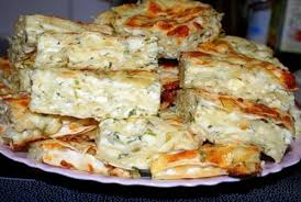 Сырный пирог из лаваша с зеленью.