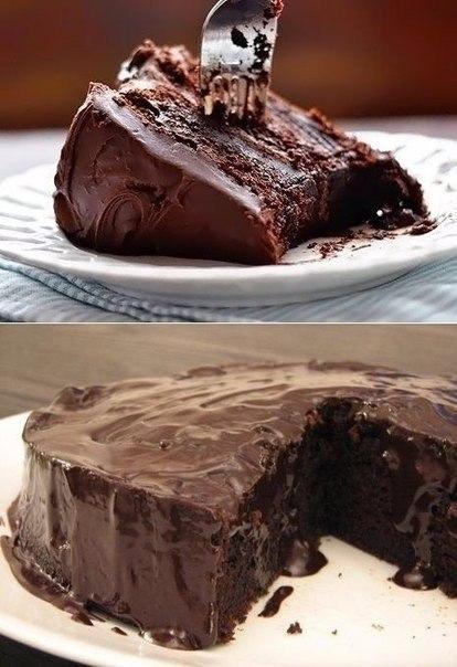 Супер влажный шоколадный пирог без яиц