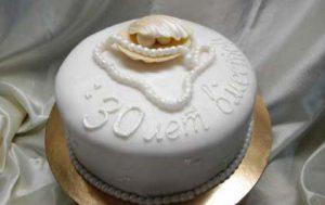 Подарки родителям на 30-летие свадьбы — торты на заказ