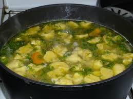 Суп с галушками.