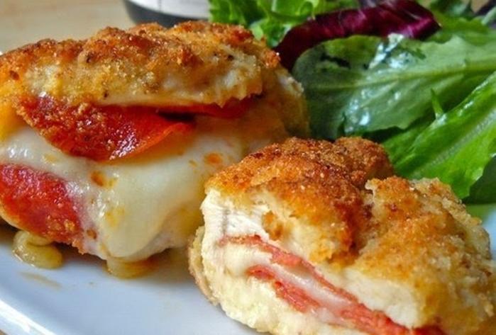 Куриные кармашки с сыром