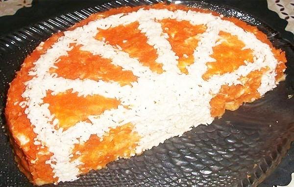 Салат «Апельсиновая долька»