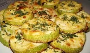 Рецепт запеченных кабачков с сыром.