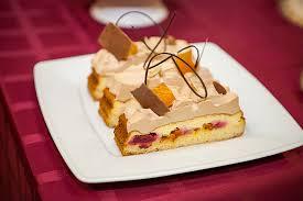 Ореховый торт с облепиховым желе