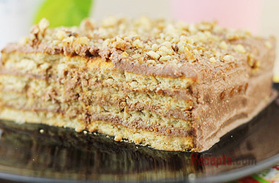 Торт из печенья и творога.