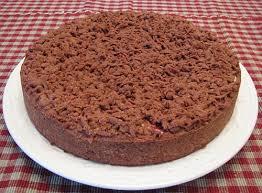 Творожный пирог с какао.