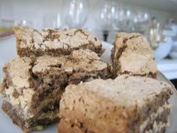 Рецепт ореховых пирожных.