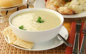 Крем-суп из курицы.