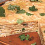 Блинчатый торт-пирог с шампиньонами