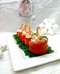 Морковная закуска с креветками «Зимняя сказка»