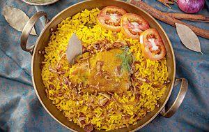 Рис джоллоф с курицей