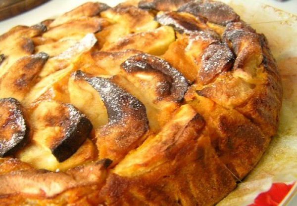 Тыквенный пирог с яблоками