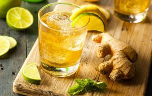 Домашний лимонад с имбирем