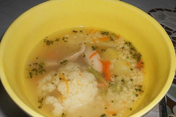 Суп из потрохов с пшеном
