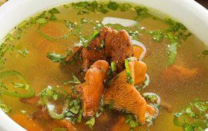 Суп с лисичками и укропом «Неженка»
