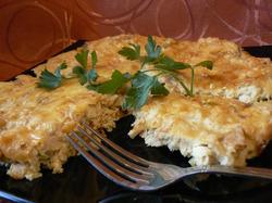 Пирог-запеканка с курицей