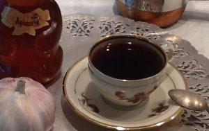 Кофе с чесноком и мёдом