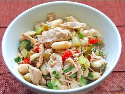 Вкусный салат с тунцом