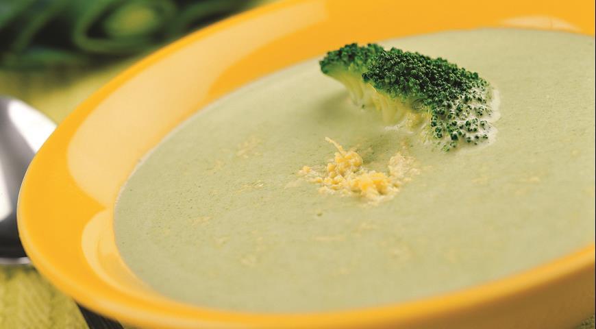 Суп-пюре из порея и брокколи