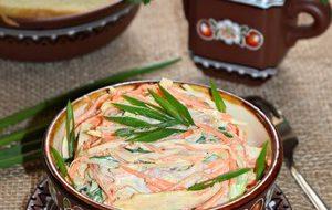 Овощной салат с копченой курицей «Любимый»