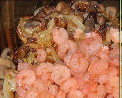 Салат с грибами и креветками