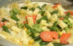 Овощи в сливках