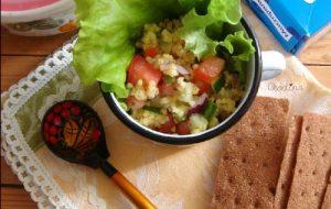 Салат с пшеном «Дачное удовольствие»