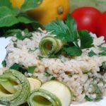 Салат из булгура с кабачками