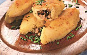 Картофельные зразы с начинкой из шампиньонов и фенхеля